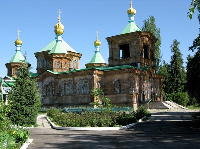 Pictures of the Russian Orthodox Church nof Karakol, Kyrgyzstan, Kyrgyzstan