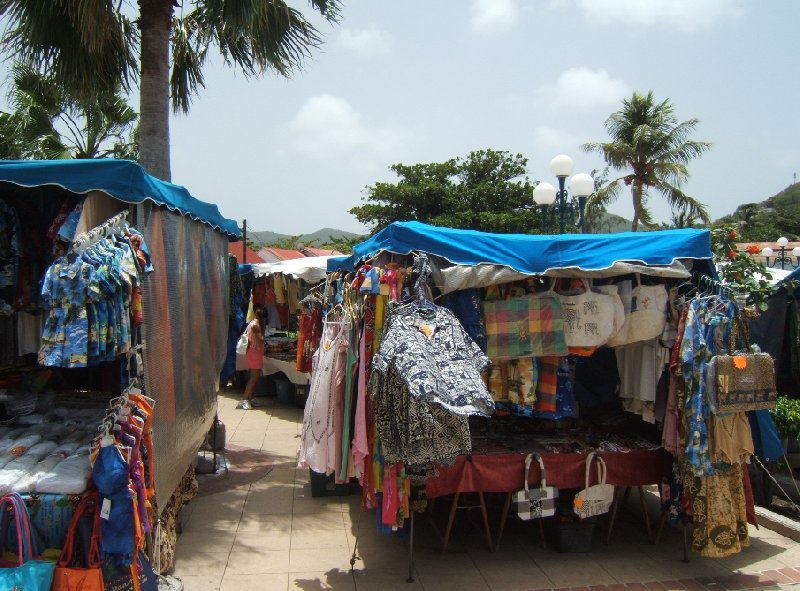 Pictures on the market in Marigot, Saint Martin, Netherlands Antilles