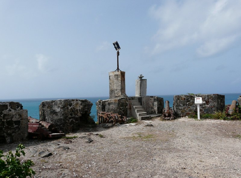 The old Fort Amsterdam in St Maarten, Philipsburg Netherlands Antilles