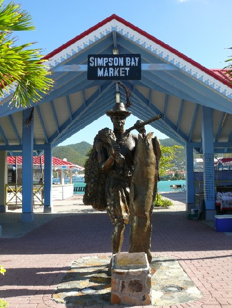 Statue in Simpson Bay, Sint Maarten, Netherlands Antilles