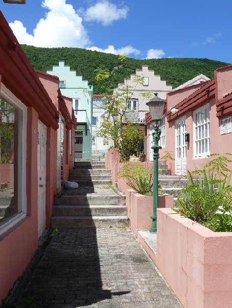 The houses in Philipsburg, St Maarten, Netherland Antilles, Netherlands Antilles