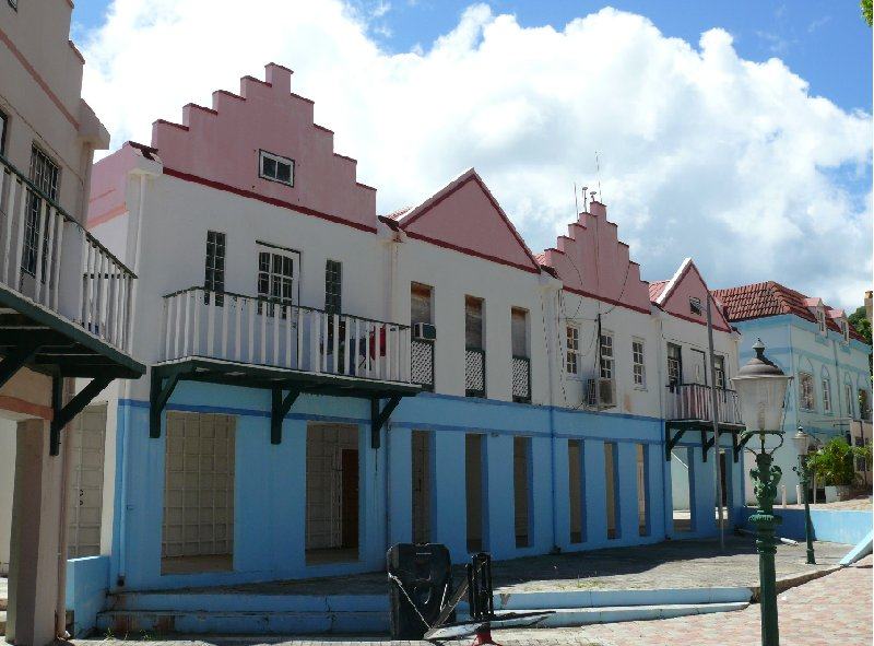 Caribbean houses in Philipsburg, Netherland Antilles, Netherlands Antilles