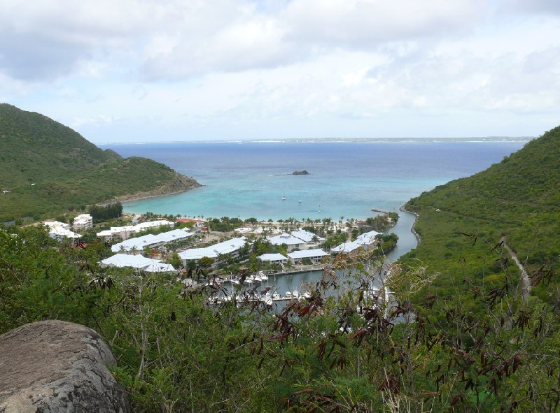 View from the moutains, Saint Martin, Philipsburg Netherlands Antilles