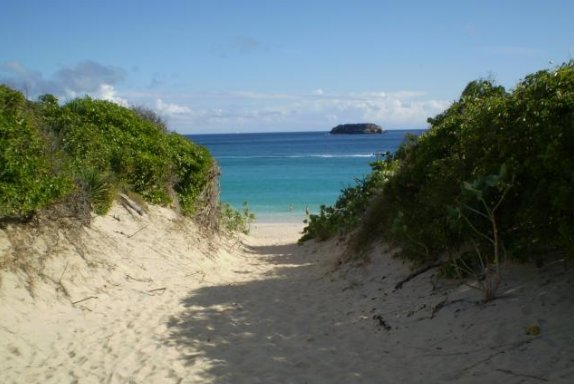 Entrance of Saline Beach, Saint Barthelemy