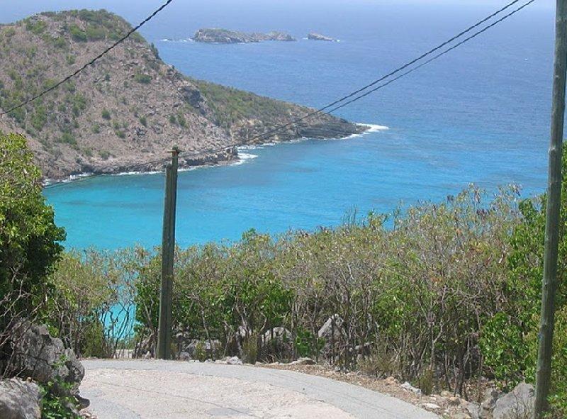 The way down hill to Governour's Beach, Saint Barthelemy, Gustavia Saint Barthelemy