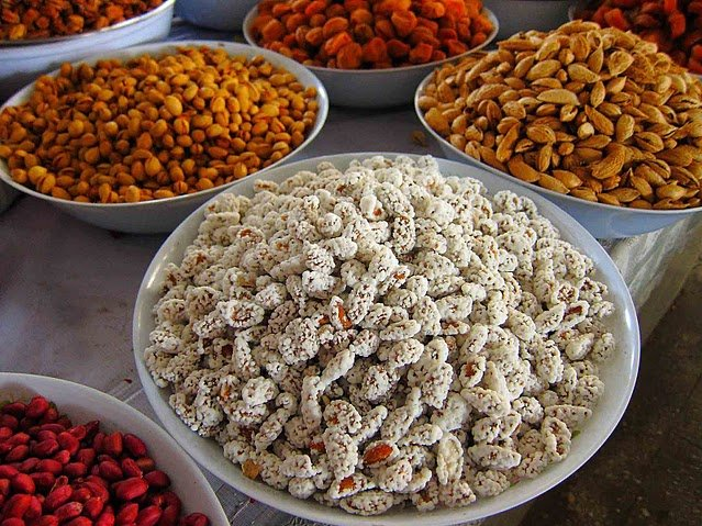 Nuts and fruits on the market in Dushanbe, Tajikistan, Tajikistan
