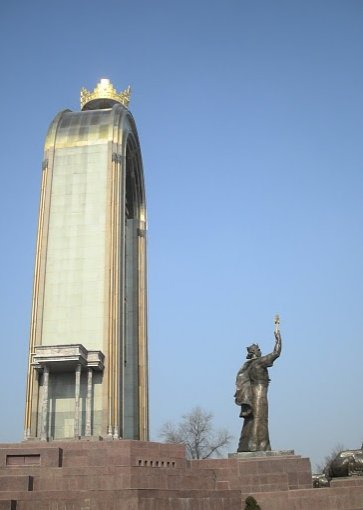 The Monument of Ismail Samani on Rudaki Avenue, Dushanbe, Tajikistan