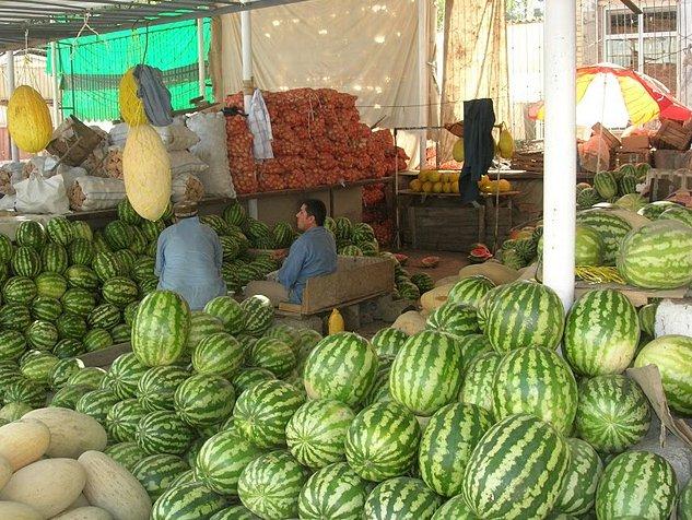 Fruit market in Dushanbe, Tajikistan, Tajikistan