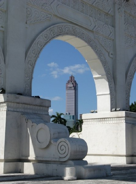 Pictures of the Taipei Financial Center and The National Chiang Kai-shek Memorial Hall , Taiwan