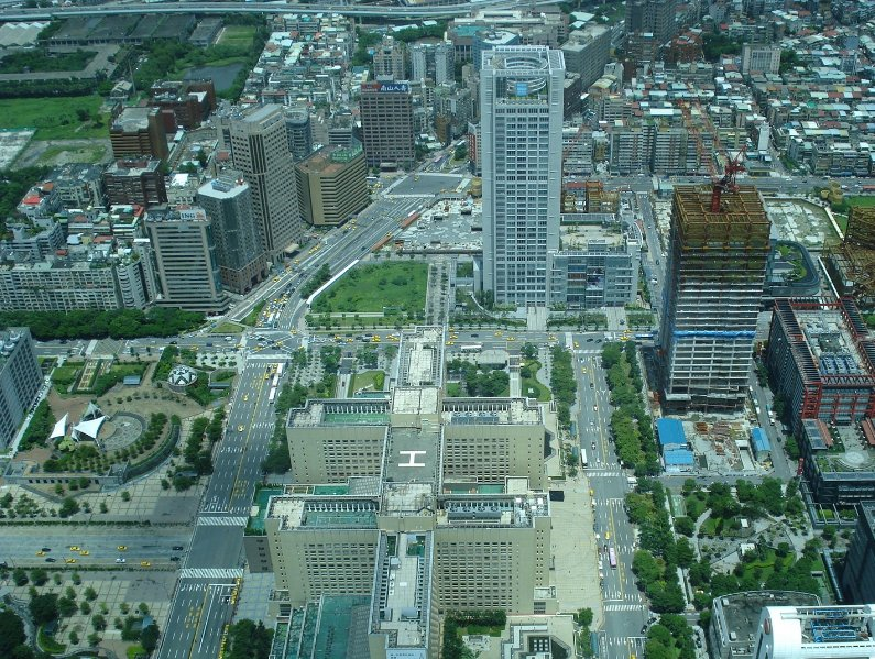 Pictures from the Taipei Financial Center Observation deck, Taipei City Taiwan
