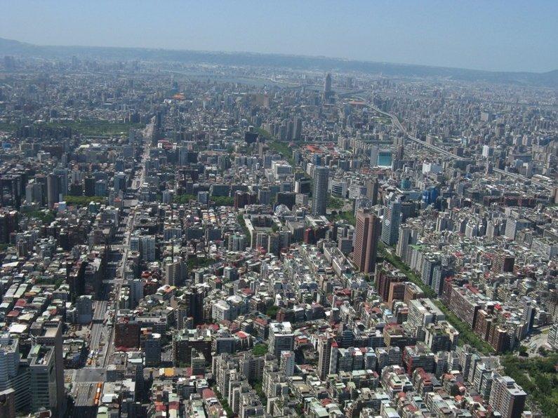 Taipei City Taiwan Panoramic view from the Taipei 101