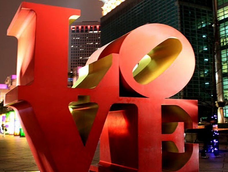Love Letters in front of the Taipei 101 in Taiwan, Taipei City Taiwan