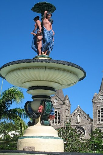 Fountain on Independence Square, Saint Kitts and Nevis, Basseterre Saint Kitts and Nevis