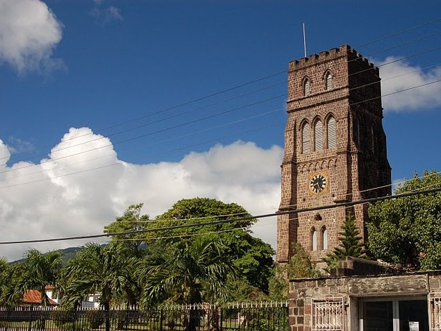 Pictures of George's Anglican Church in Basseterre, Saint Kitts and Nevis