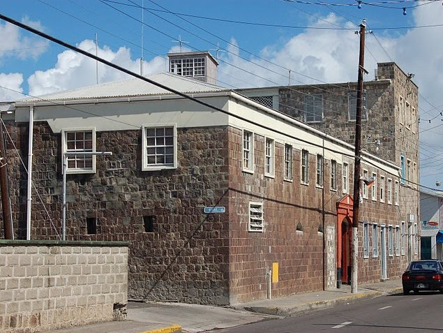 The prison in Basseterre, Saint Kitts and Nevis, Basseterre Saint Kitts and Nevis