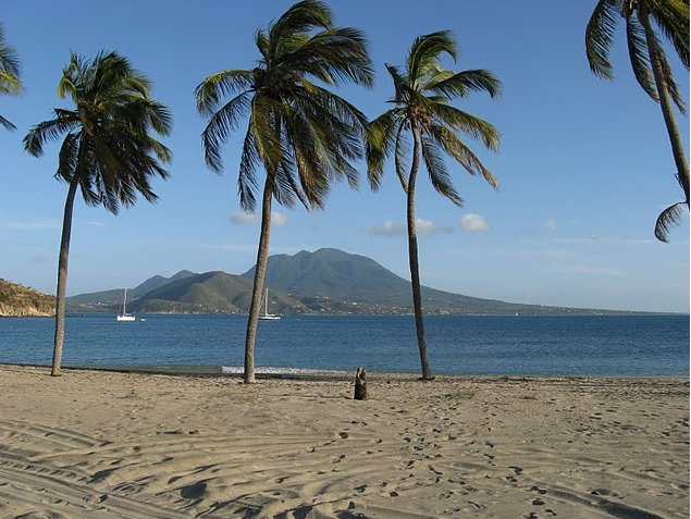 The beach in Saint Kitts and Nevis, Basseterre Saint Kitts and Nevis