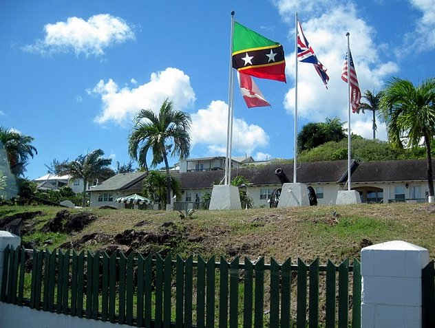 Flags on the island of Saint Kitts and Nevis,, Saint Kitts and Nevis