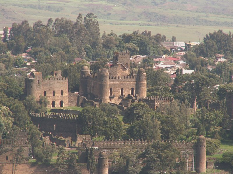View of the Fasilides Castle in Gondar, Ethiopia, Ethiopia