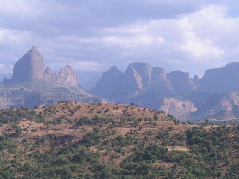 Mountains of Simien Mountains NP, Ethiopia, Gondar Ethiopia