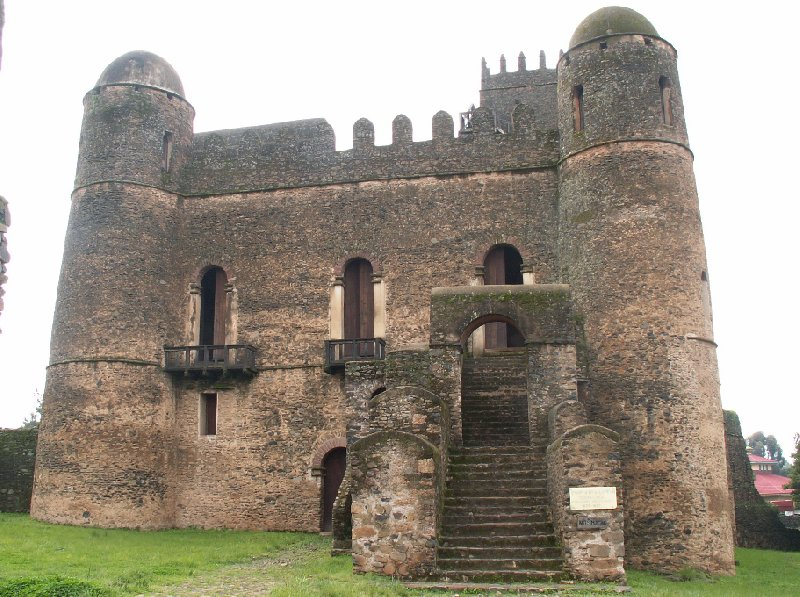 Gondar Ethiopia Panoramic pictures of the Fasilides Castle in Gondar, Ethiopia