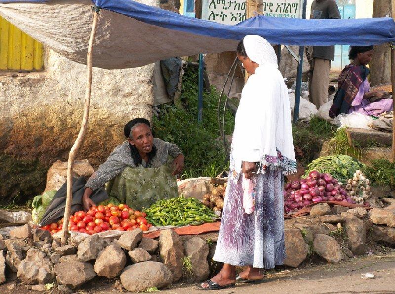 Streetmarket in Gondar, Ethiopia, Gondar Ethiopia