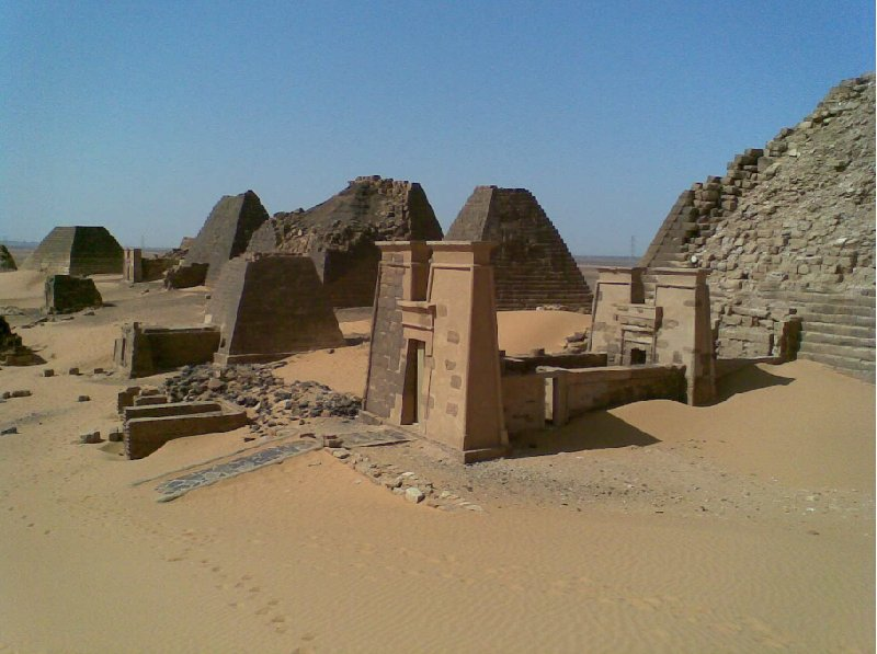 Pictures of the Nubian pyramids in Meroe, Sudan, Sudan