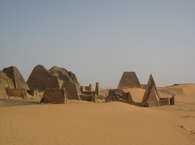 Nubian pyramids of the Meroe Empire, Sudan, Khartoum Sudan