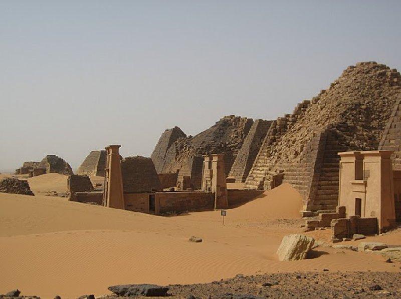 Nubian pyramids of Meroe, Sudan, Khartoum Sudan