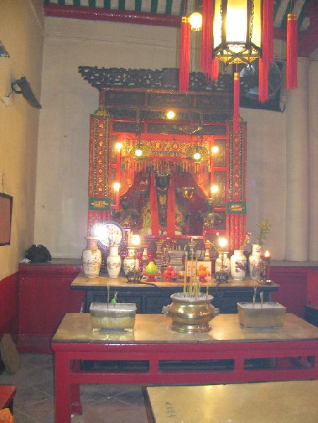 Altar inside the Man Mo Temple in Hong Kong, Hong Kong