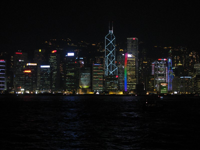 The skyline of Hong Kong at night, Hong Kong