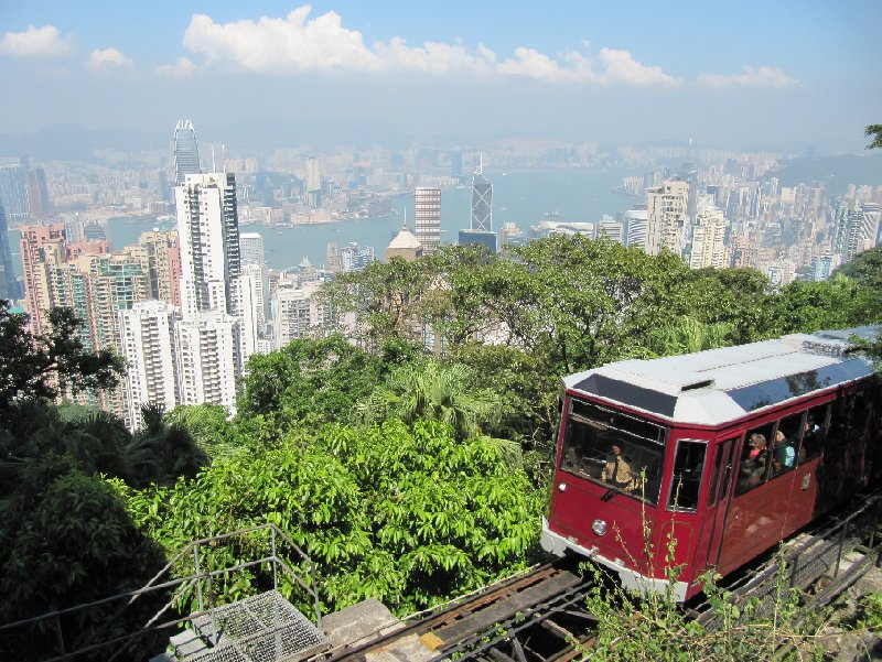 The Peak Tram up to Victoria's Peak, Hong Kong, Hong Kong