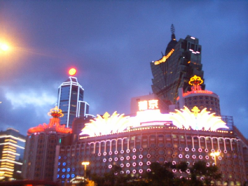 Pictures of Macau by night, Macao