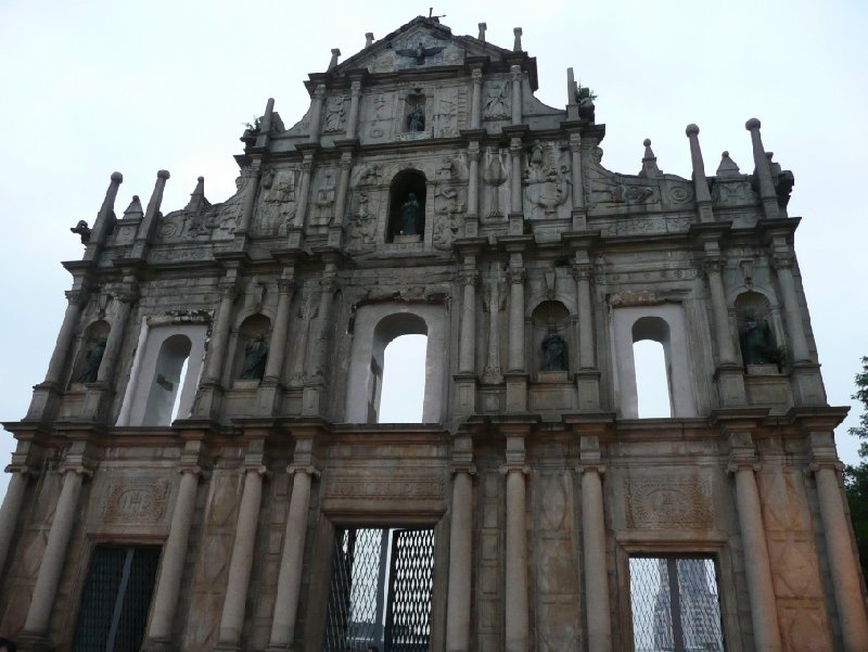 Pictures of the ruins of the St Paul's Cathedral, Macao