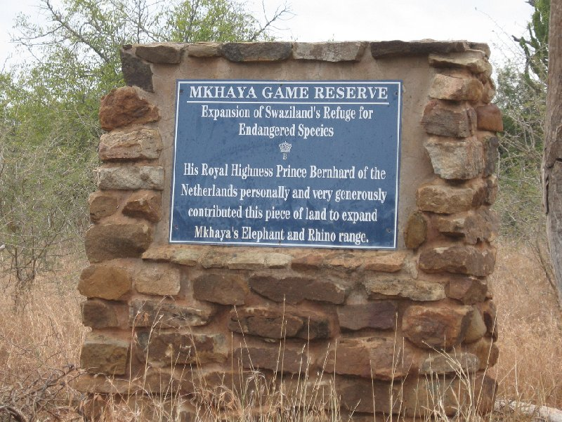 Entrance of the Mkhaya Game Reserve, Swaziland, Swaziland