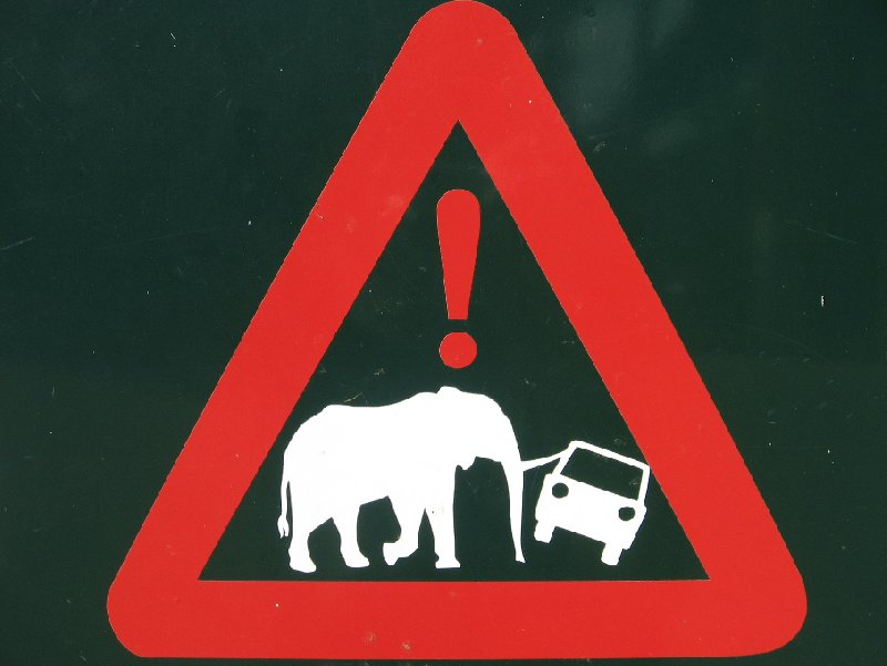 Warning sign in the Mkhaya Game Reserve, Swaziland, Swaziland
