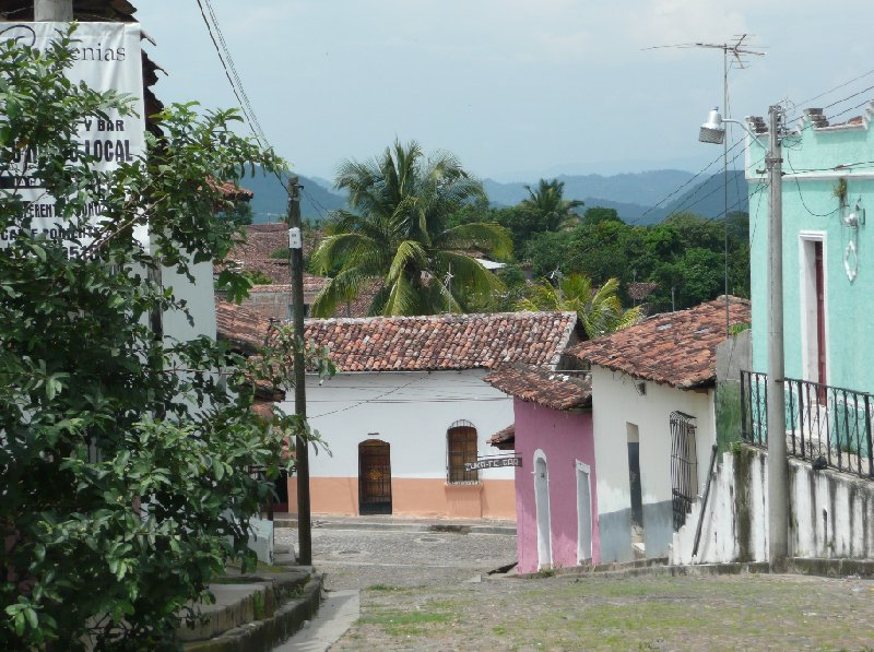 Colourful houses and bars in Suchitoto, El Salvador, Suchitoto El Salvador