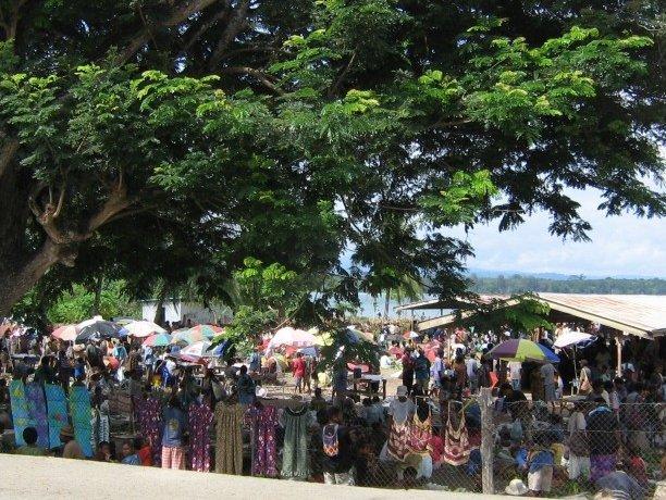 Market in Wewak, Papua New Guinea, Papua New Guinea
