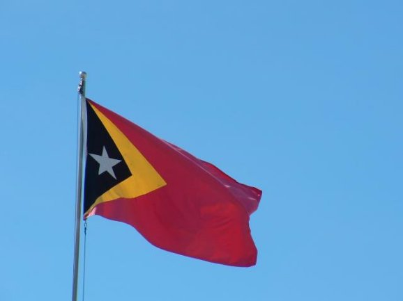 The flag of East Timor, Dili East Timor
