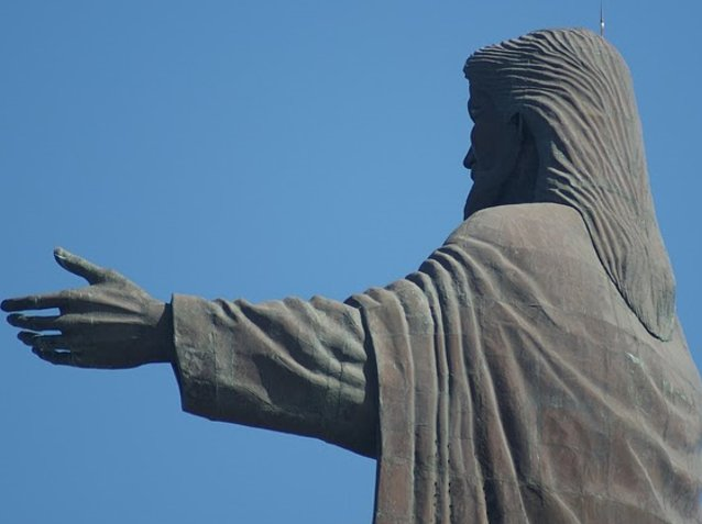 Photos of Christ Rei statue in Dili, Timor, East Timor