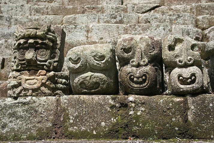 Mayan ruins in Honduras Copan Travel Photographs