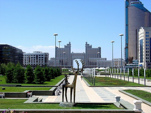 Photo Astana, the capital of Kazakhstan extend