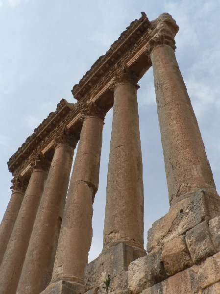 Photo The Roman temple ruins of Baalbek temples