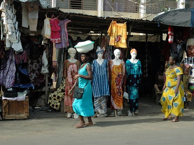 Lome Grand Market Togo Vacation Diary