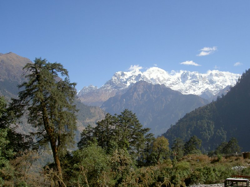 Photo Annapurna circuit trek map Birethanti