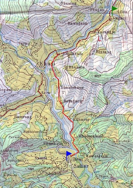 Photo Annapurna circuit trek map experience