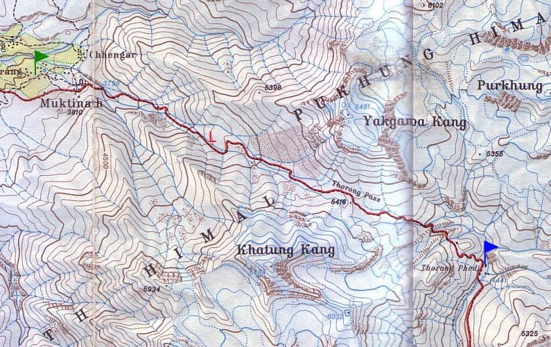 Photo Annapurna circuit trek map circuit