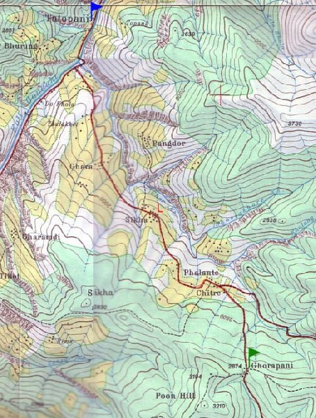 Photo Annapurna circuit trek map hiking