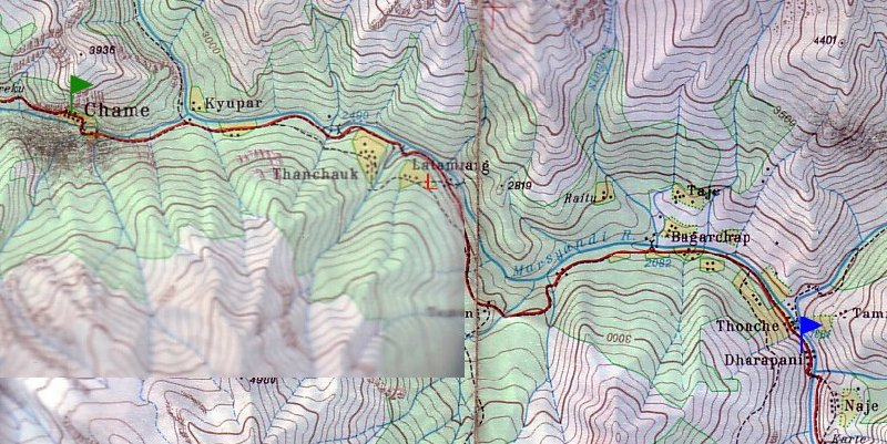 Photo Annapurna circuit trek map trails