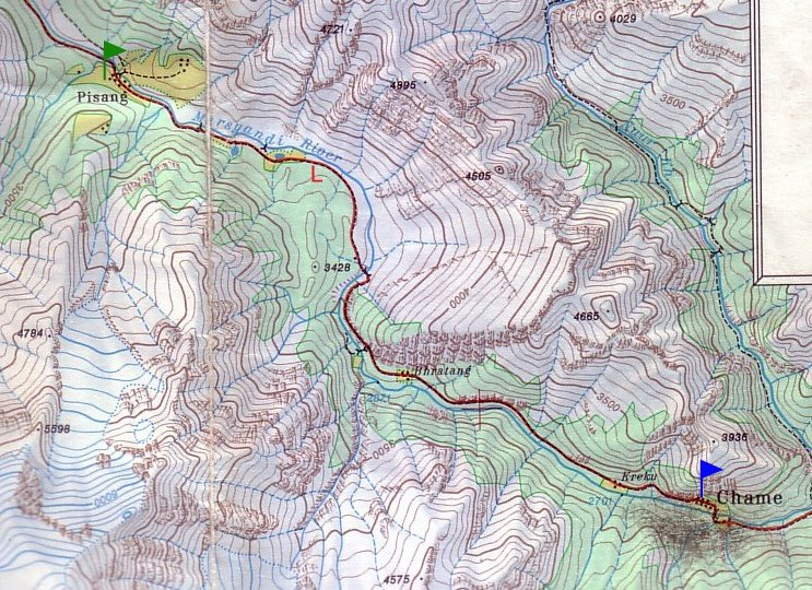 Photo Annapurna circuit trek map planning