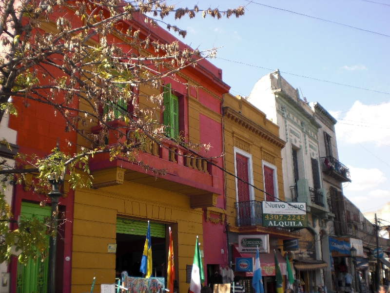 Photo Sights in the La Boca District, Buenos Aires colourful
